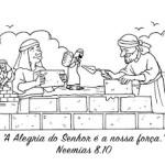 Desenho de Neemias para Colorir