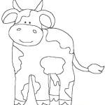 Desenho de Vaquinhas para colorir