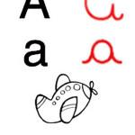 alfabeto ilustrado A 150x150 Desenho de A lebre e a Tartaruga para Colorir