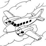 10 Desenhos de Aviões para Colorir