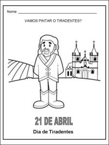 Tiradentes Inconfodencia atividades desenhos 15 225x300 Atividades sobre Tiradentes