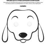 Mascaras de Animais para colorir e recortar