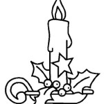 vela3 150x150 Desenhos dos Símbolos do Natal para Colorir