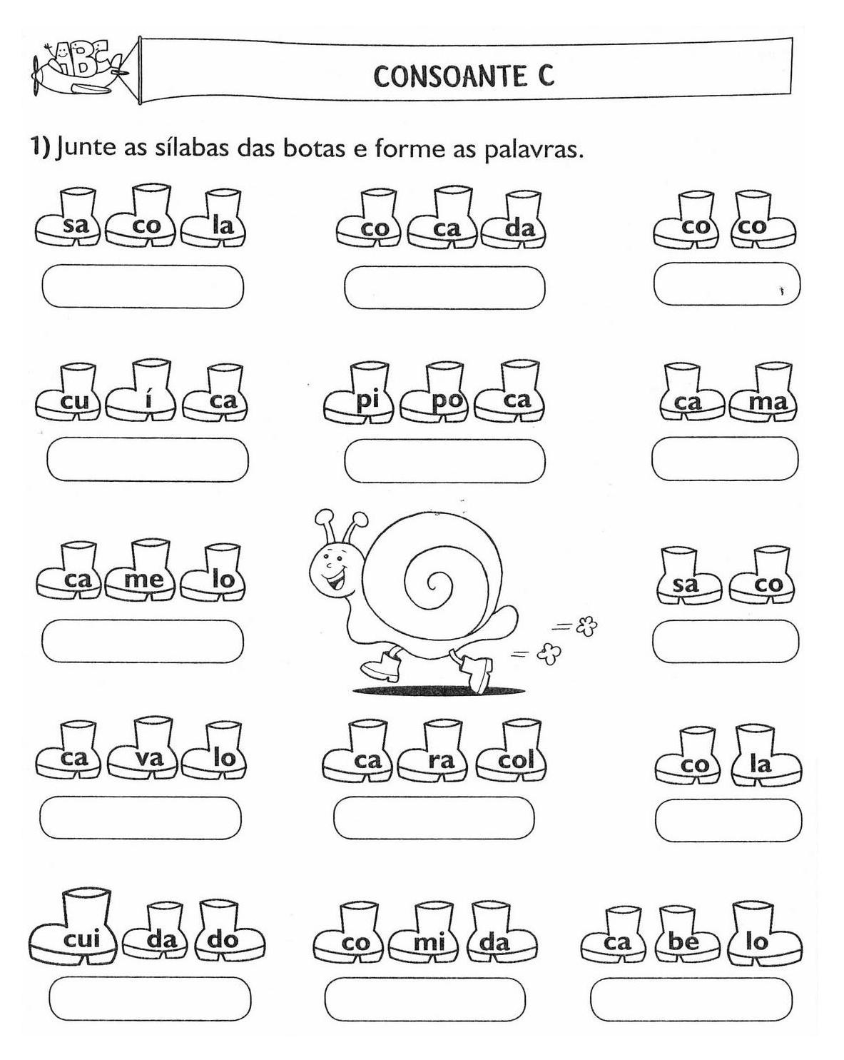 70 Atividades De Alfabetizacao Juntando Silabas
