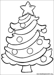 árvore de natal Árvores de Natal para colorir