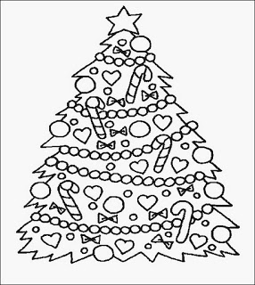 árvore natal desenho colorir pintar bengalas Árvores de Natal para colorir
