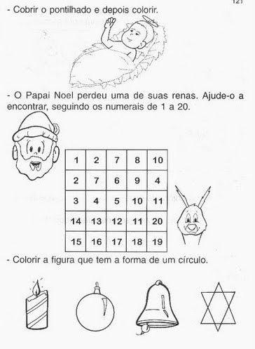 Atividades de alfabetização tema natal
