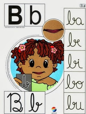 Alfabeto colorido b