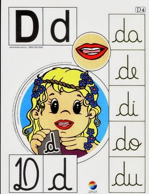 Alfabeto colorido d
