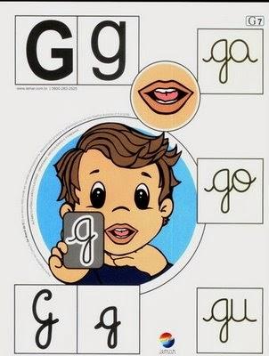 Alfabeto colorido g