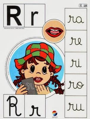 Alfabeto colorido r