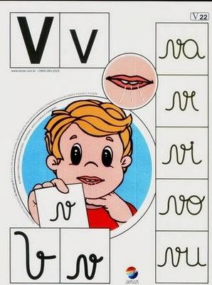 Alfabeto colorido v