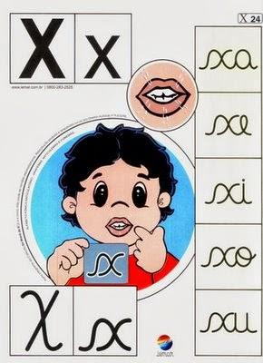Alfabeto colorido x