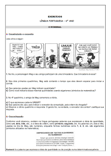 Atividades Português 6° ano Lingua Portuguesa exercícios avaliações provas testes imprimir (01)
