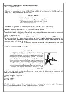 Atividades Português 6° ano Lingua Portuguesa exercícios avaliações provas testes imprimir (3)