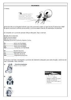 Atividades Português 6° ano Lingua Portuguesa exercícios avaliações provas testes imprimir (4)