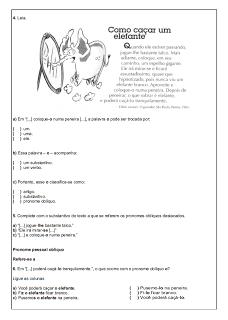 Atividades Português 6° ano Lingua Portuguesa exercícios avaliações provas testes imprimir (5)