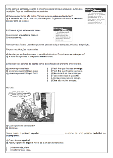 Atividades Português 6° ano Lingua Portuguesa exercícios avaliações provas testes imprimir (6)