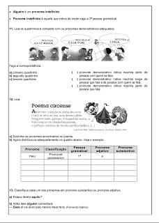 Atividades Português 6° ano Lingua Portuguesa exercícios avaliações provas testes imprimir (7)