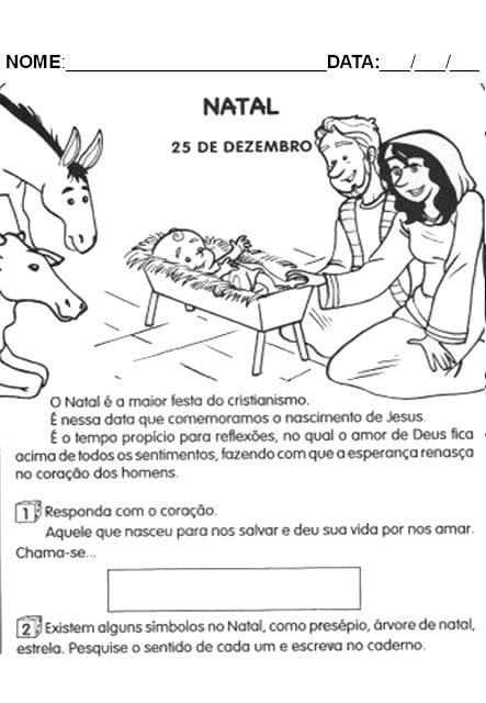 Atividades de Natal - Textos para interpretação 1