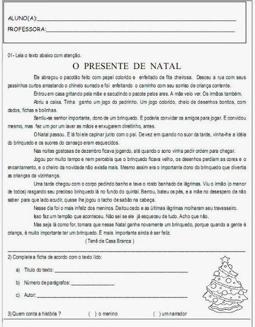 Atividades de Natal - Textos para interpretação 7