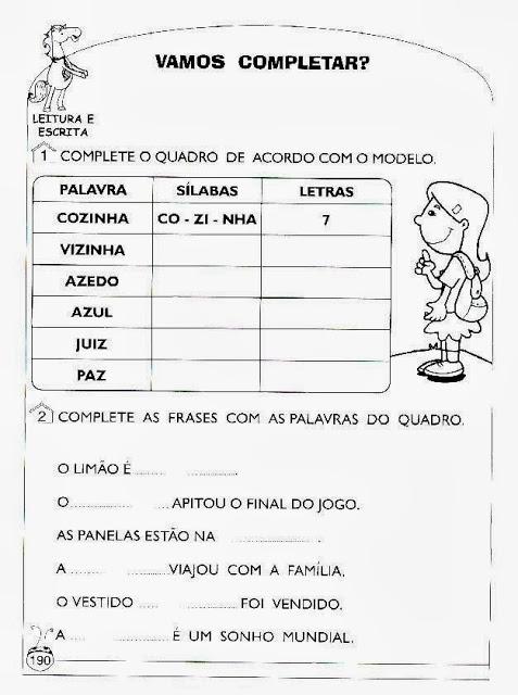Atividades de alfabetizacao e letramento 2