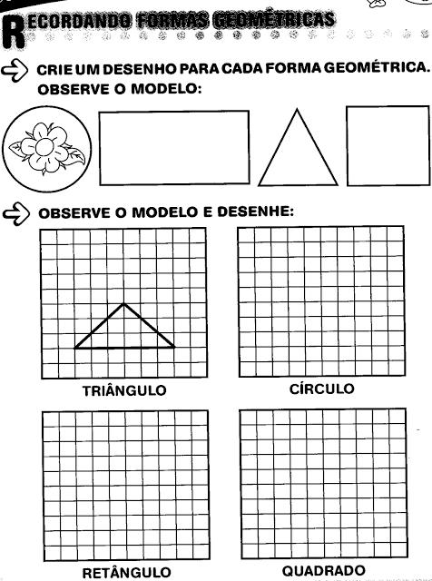 Atividade de geometria plana ensino fundamental