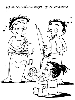 Consciência Negra Atividades Exercícios Desenhos Colorir Pintar Imprimir História (40)