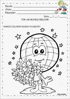 Desenho para colorir sobre poluição