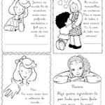 Cartões para colorir dia das Mães