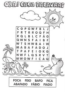Caca Palavras Divertidos Para Imprimir Atividades Pedagogicas