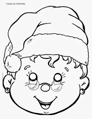 Máscara de Mamãe Noel