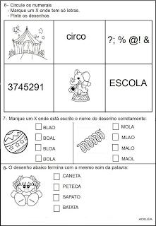 Provas 1° ano Testes avaliações   atividades alfabetização  imprimir (3)