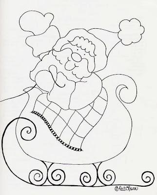Desenho de símbolos natalinos para colorir