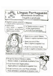 Sujeito Predicado Atividades Ling Portuguesa Imprimir  (1)