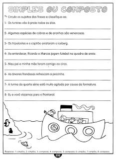 Sujeito Predicado Atividades Ling Portuguesa Imprimir  (7)