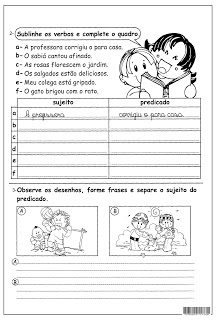 Sujeito Predicado Atividades Ling Portuguesa Imprimir  (8)