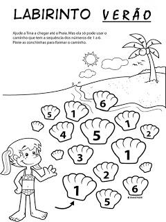 Verão Desenhos Atividades praia férias brincadeiras colorir Imprimir (10)