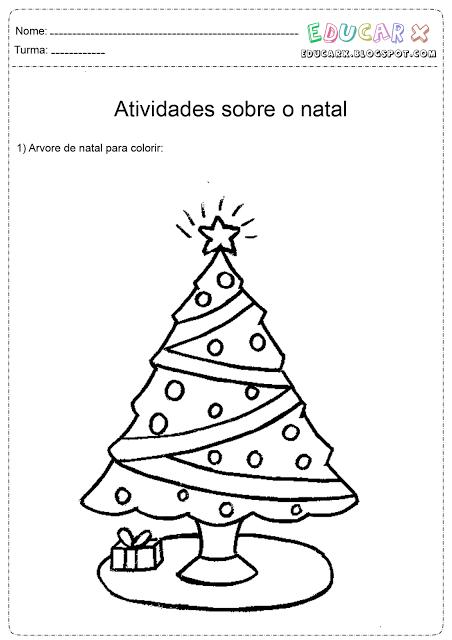 Desenhos De Arvores De Natal Para Colorir Atividades Pedagogicas