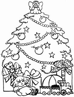 arvore natal presentes Árvores de Natal para colorir