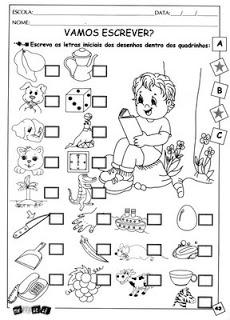 Atividades De Alfabetizacao Para Imprimir E Colorir Atividades