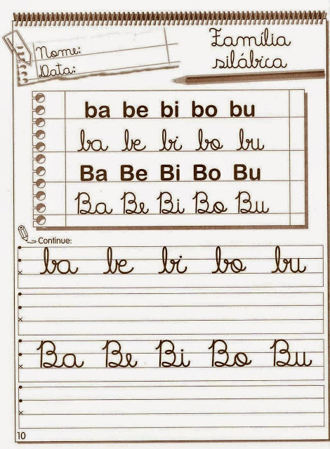 Exercicios De Alfabetizacao Para Imprimir Atividades Pedagogicas