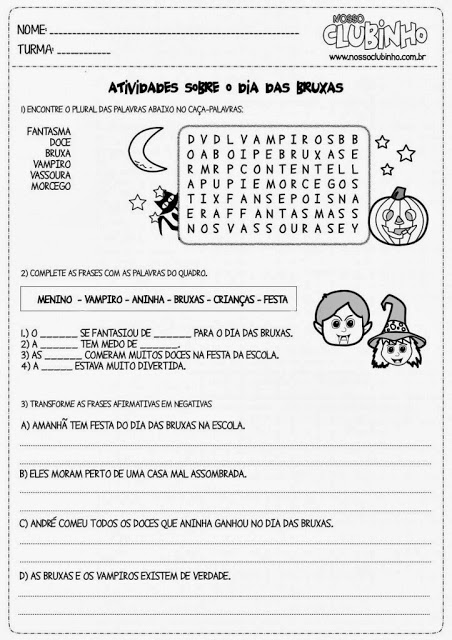 atividades halloween ensino fundamental 7