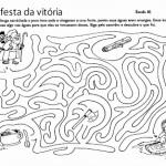 Atividades bíblicas labirintos
