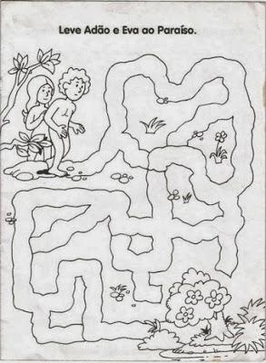 atividades labirinto adao e eva