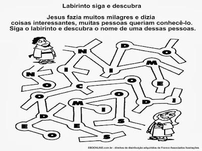 atividades labirinto descubrindo