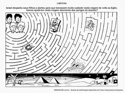 atividades labirinto israel