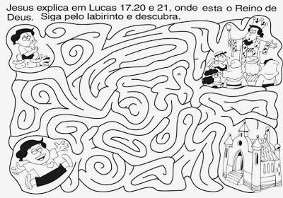 atividades labirinto jesus