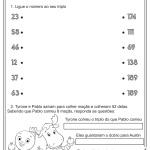 Atividades de matemática sobre: metade, dobro e triplo