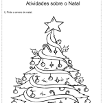 Desenhos de árvores de natal para colorir